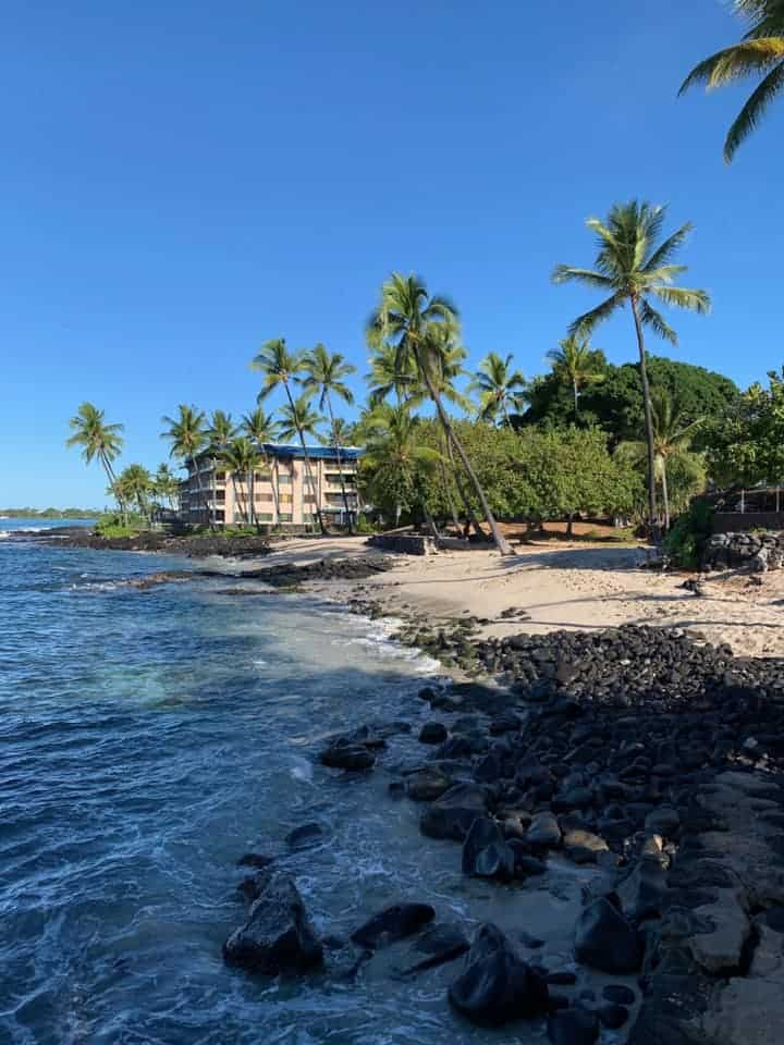 Honl's Beach Park in Kona, Hawaii
