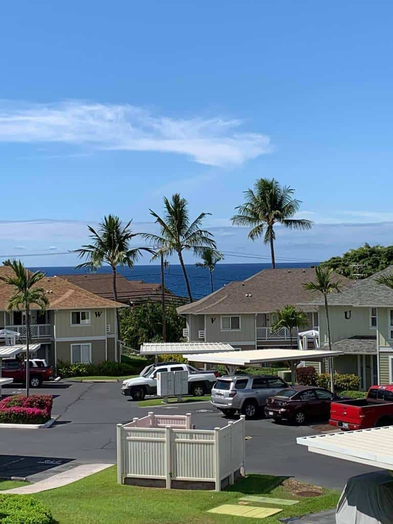 View from our lanai in Kona, Hawaii