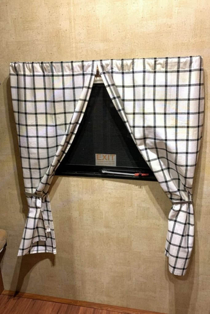 replace RV curtains for a personalized look