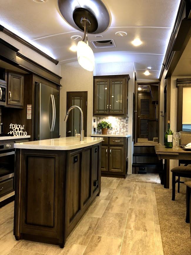 a large RV kitchen