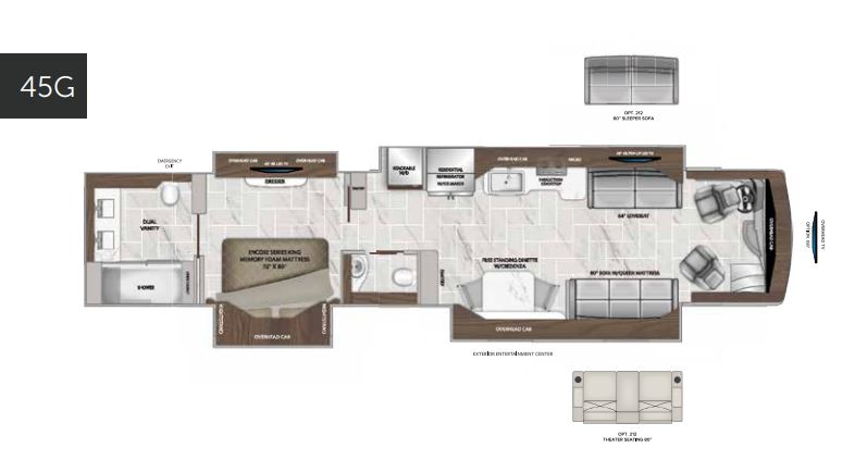 American Eagle 45G Floorplan