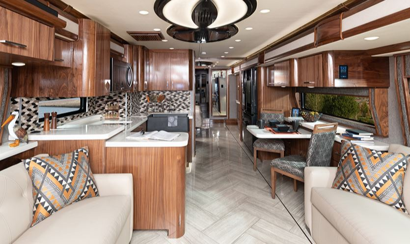 American Eagle RV Living Area