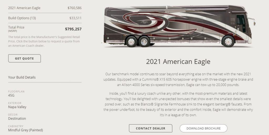 American Eagle Class A Price