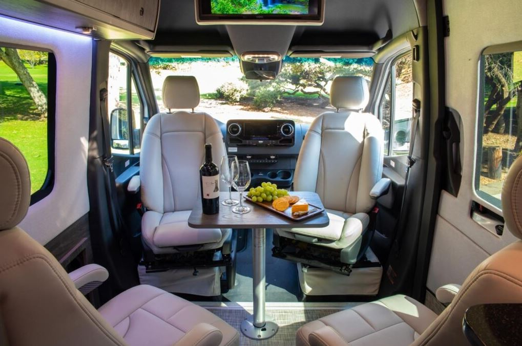inside the Grech Strada luxury rv
