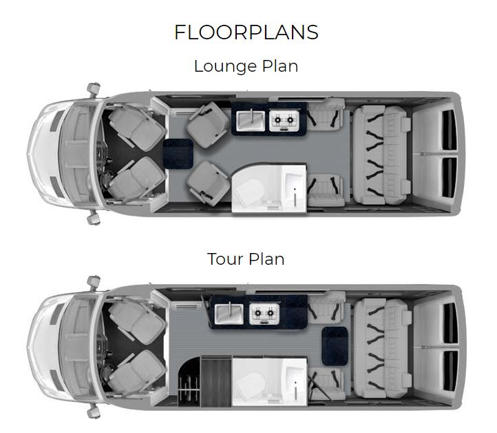 floor plan of the grech strada luxury rv
