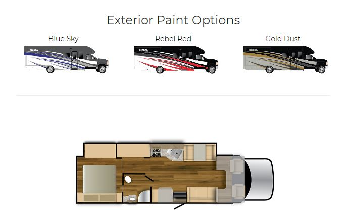 exterior paint options for the super c luxury rv