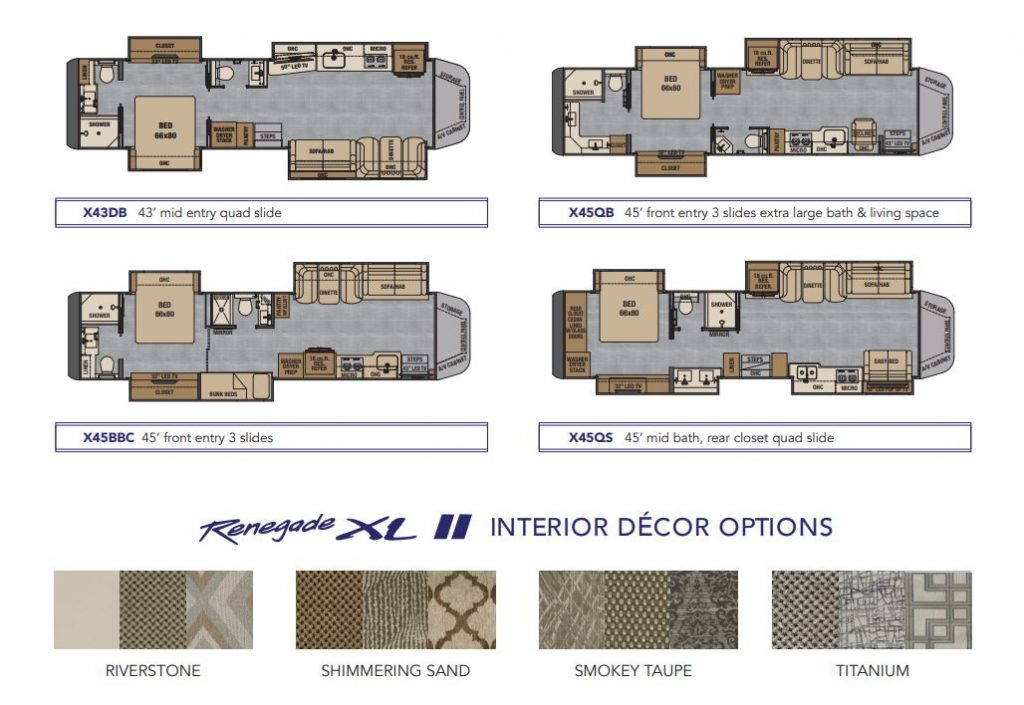 Renegade RV floor plans
