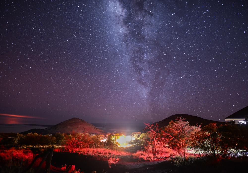 The stars from mauna kea on the Big Island of Hawaii