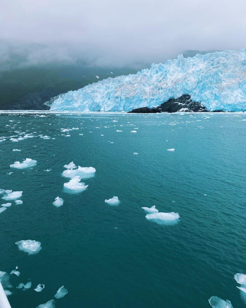 a view of aialik glacier in seward alaska