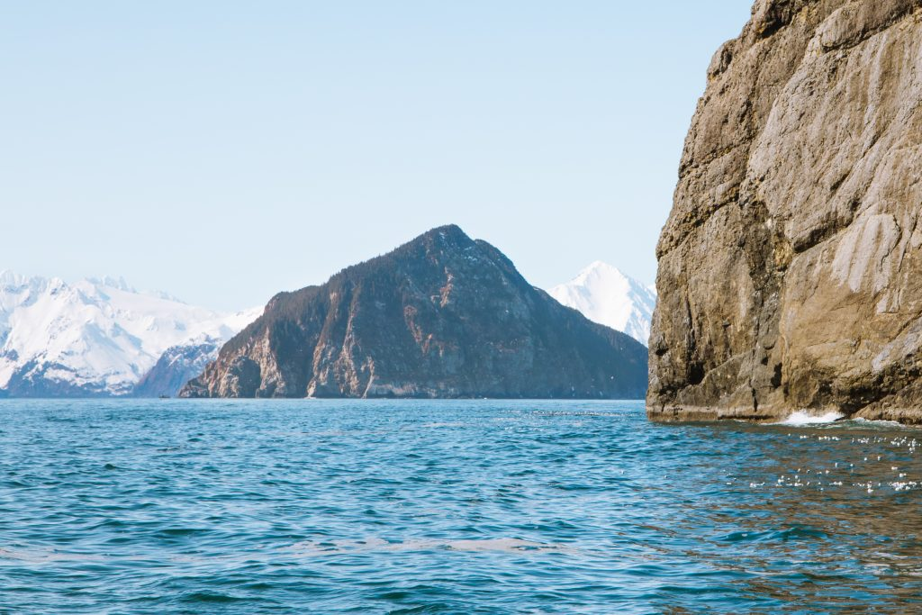 view from a boat tour in seward alaska
