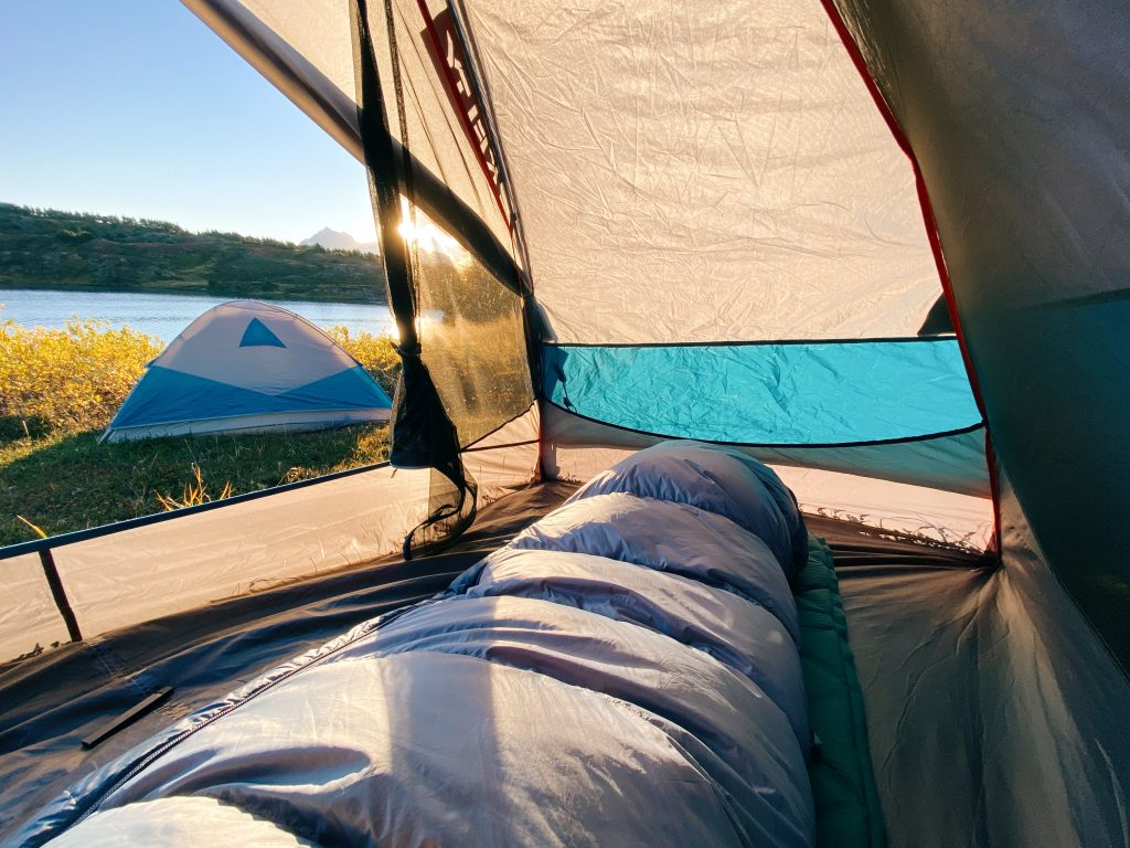camping on lost lake trail in seward alaska