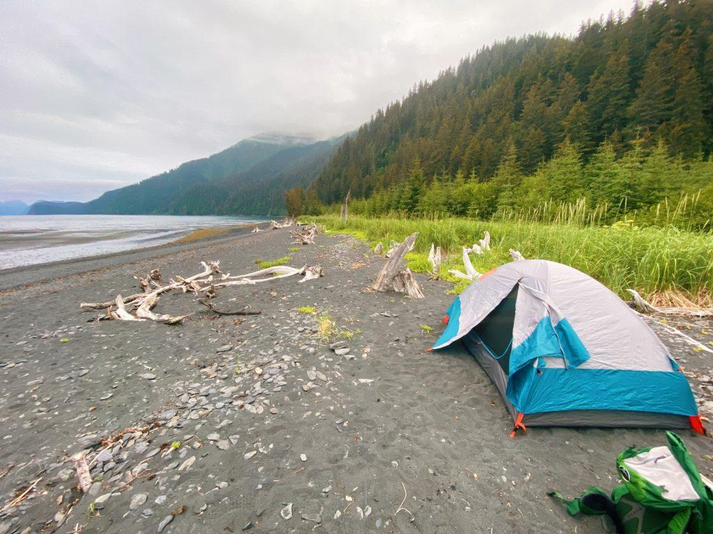 camping on the trail in seward alaska