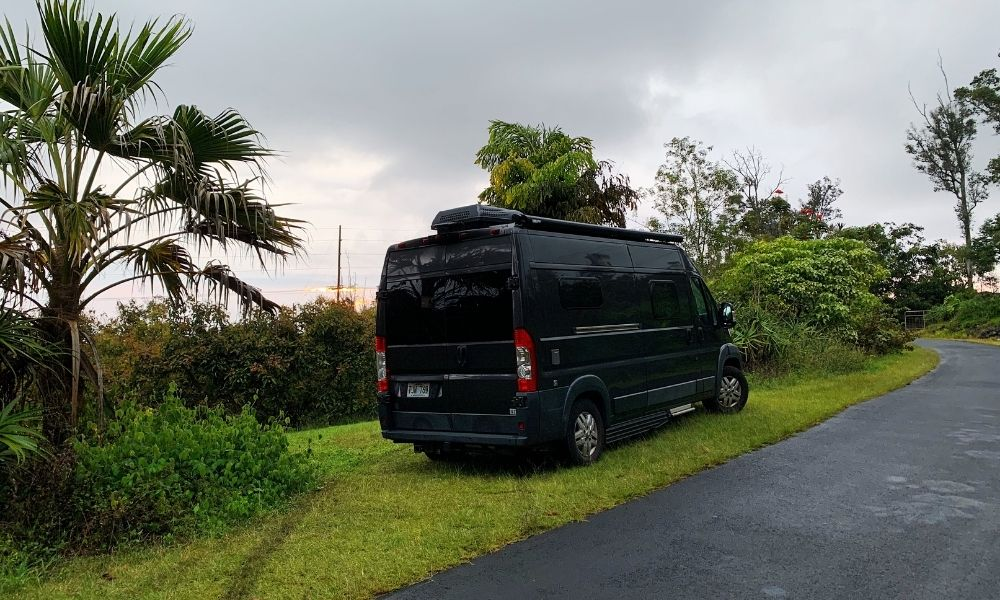 our hipcamp spot on the big island of hawaii