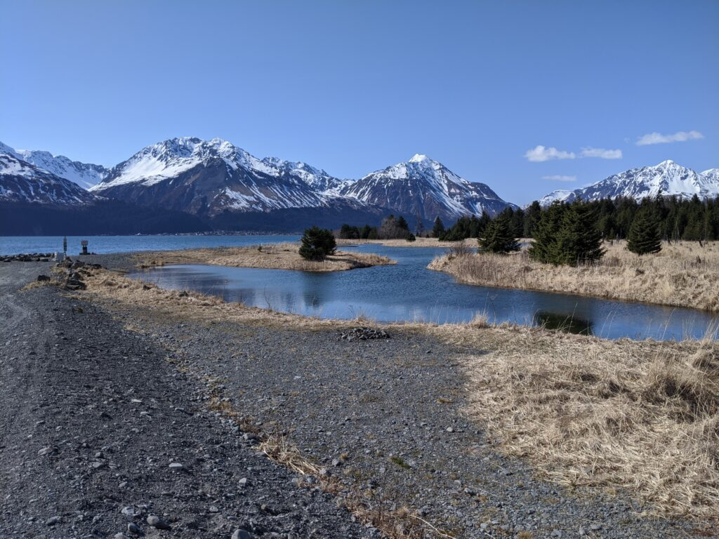 view of the mountains in seward