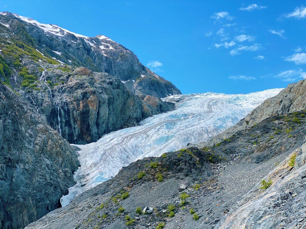 exit glacier in kenai fjords national park