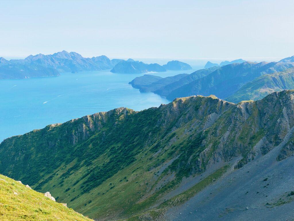 a view of kenai fjords national park