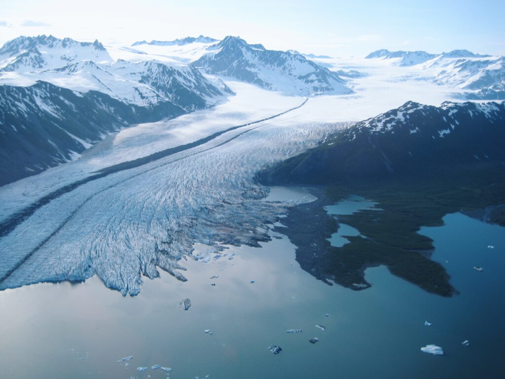 Ben glacier from harding icefield