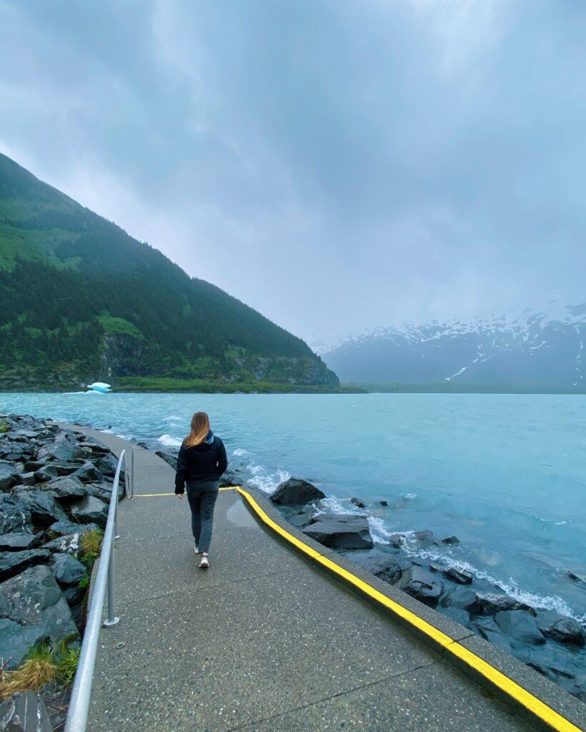 trail of blue ice portage alaska