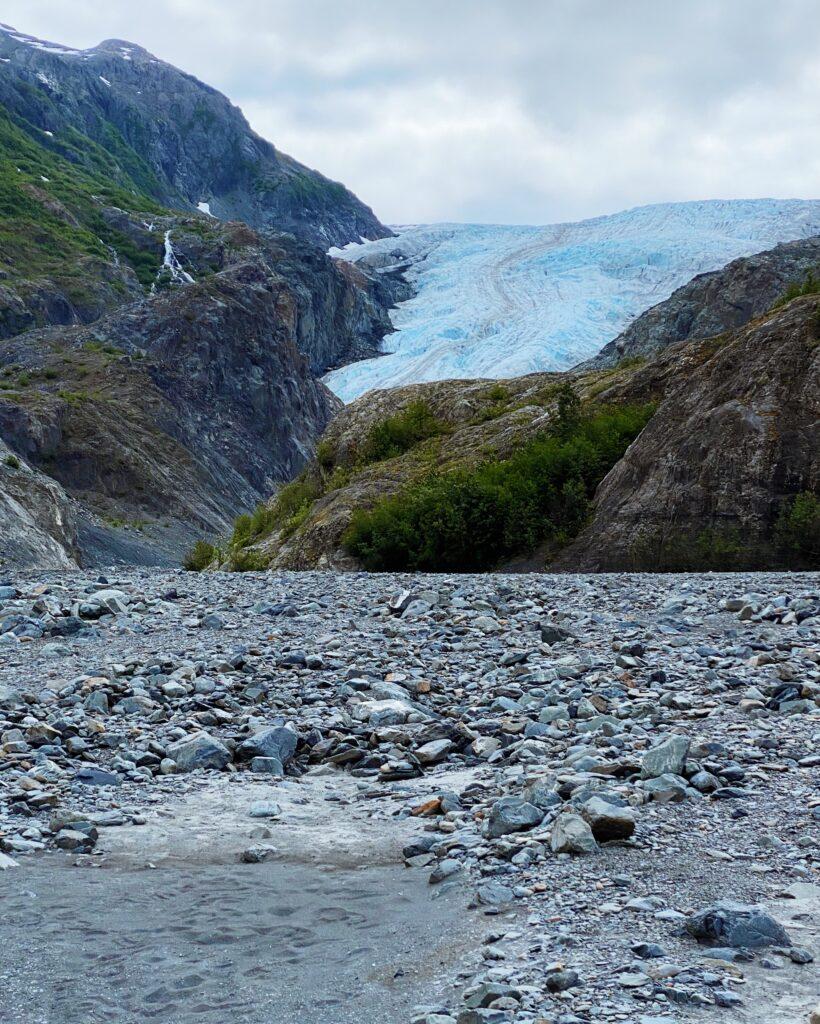 A view of Exit glacier in Alaska