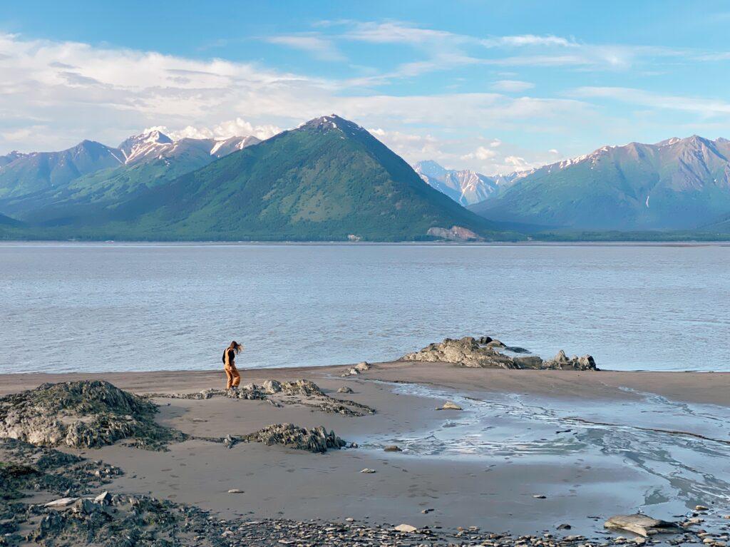 a view of Turnagain Arm in Alaska