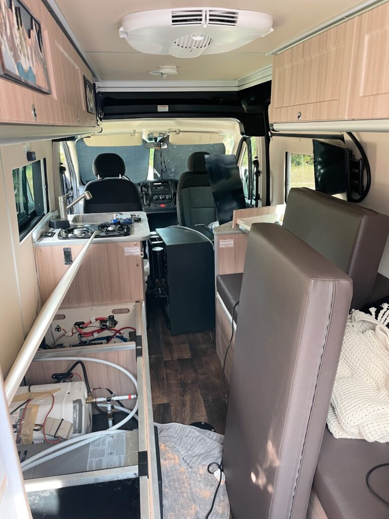 dealing with repairs on a campervan