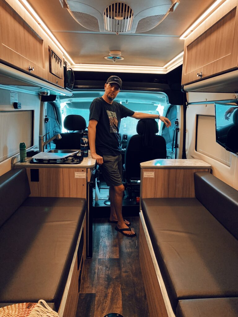 Todd from TREKKN in our new campervan