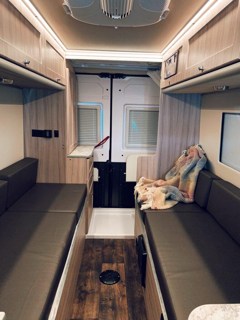 inside a 2018 Hymer campervan