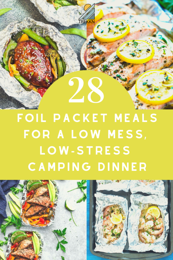 28 foil packet meals for camping and RVing