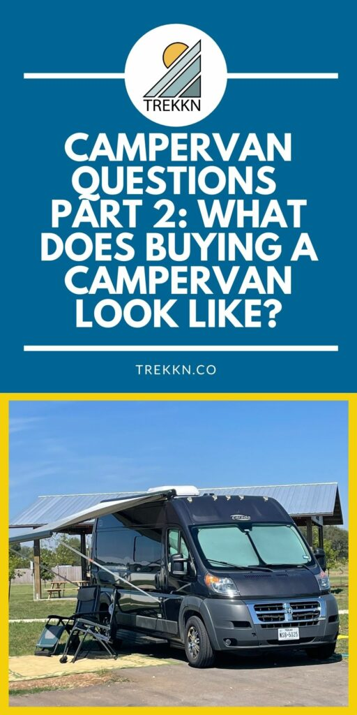 campervan questions part 2: what it's like buying a campervan